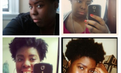 My first month of embracing my natural hair. Spring 2013
